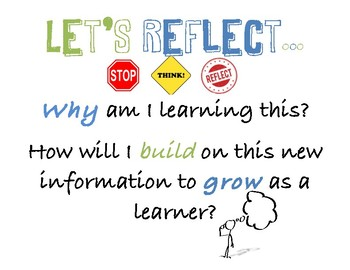 "Reflection Poster ""Let's Reflect..."""