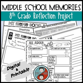 Reflection Project For 8th Graders - Middle School Memory Book