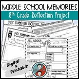 Reflection Project For 8th Graders Digital & Printable for Distance Learning