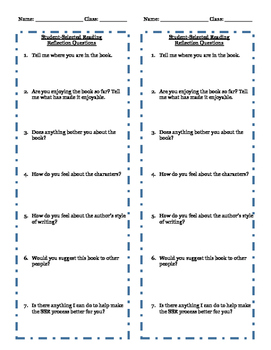 Reflection Questions for Student Selected Reading