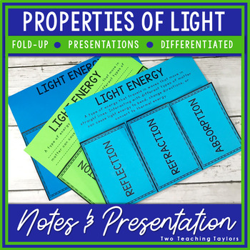 Light Energy Foldables: Reflect, Refract, and Absorb
