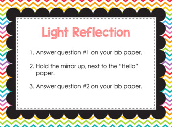 Reflection Refraction and Absorption Stations
