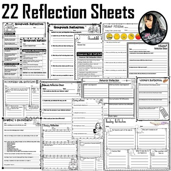 Reflection Sheet BUNDLE (18 Reflections/ 1 Skills Sheet)