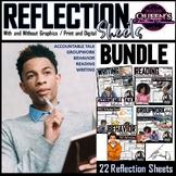 Reflection Sheet BUNDLE (18 Reflections/ 1 Skills Sheet)
