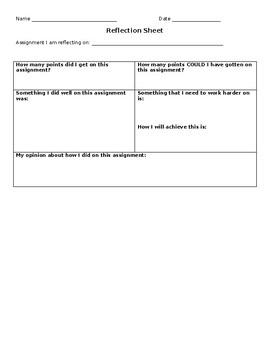Reflection Sheet: Danielson Framework