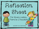 Reflection Sheet: For Every Action There is a Reaction