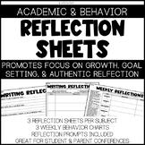 Reflection Sheets - Academic and Behavior