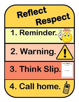 Reflection Spot, Behavior Management Poster