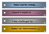 Reflection Sticks - Sentence Starters