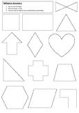Reflection Symmetry Worksheet | Year 5 MATHS (ACMMG114)