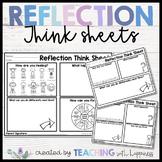 Reflection Think Sheets