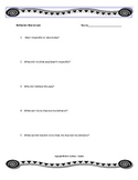 Reflection Worksheet for Student Classroom Behavior
