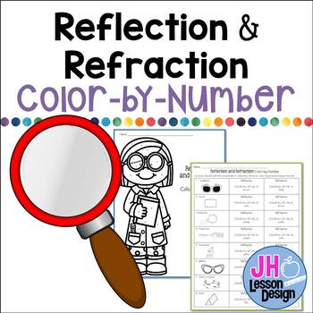Reflection and Refraction Color-By-Number