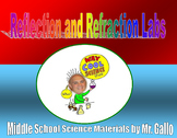NGSS ES./MS./HS. Waves: Reflection and Refraction Labs