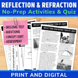 Reflection and Refraction of Light Energy | Comprehension