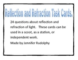 Reflection and Refraction of Light Task Cards