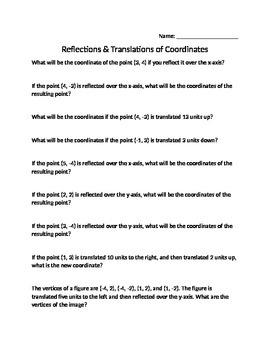 Reflection and Translation of Cooridates