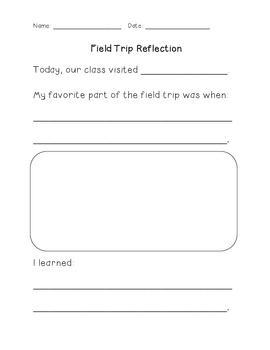 Reflection for Any Field Trip