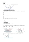 Reflection of Light - Worksheet