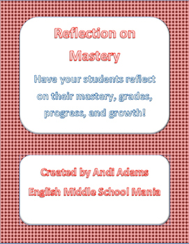 Reflection on Mastery