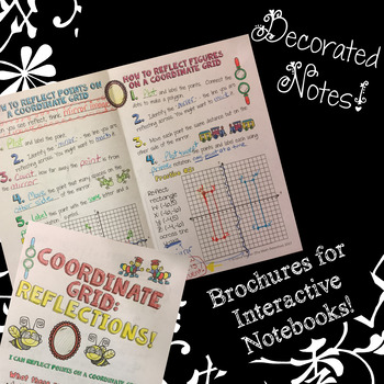 Reflection on a Coordinate Grid - Doodle Note Brochure for Interactive Notebooks