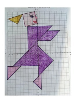 Reflections puzzle - Transformation Art activity - CCSS 8.G.A.3
