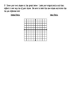 Reflections Across Specific Lines - Homework