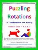Rotations puzzle - Transformation Art Activity - CCSS 8.G.A.3