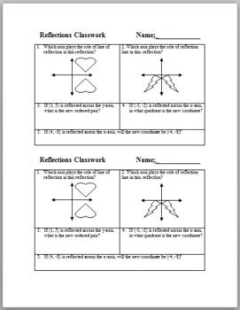 Reflections Classwork