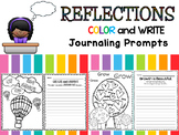 Reflections : Daily Journal Prompts - Color and Write - Back to School