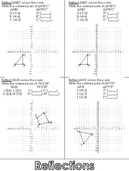 Reflections Foldable (Reflecting Across x- and y- axes)