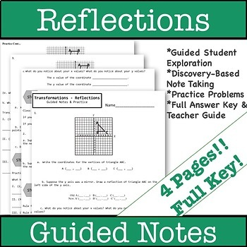 Reflections Guided Notes - Transformations