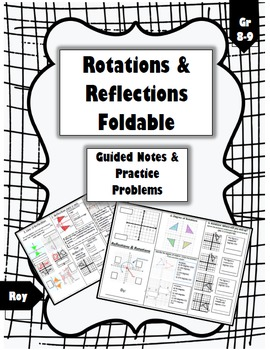 Reflections & Rotations Foldable