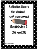 Student Self-Assessment Reflections Sheets for Realidades 2 2A and 2B