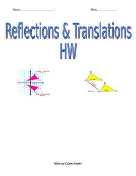 Reflections & Translations Homework