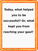 Reflections and Goal Setting