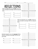 Reflections graphing page