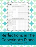 Reflections in the Coordinate Plane Practice