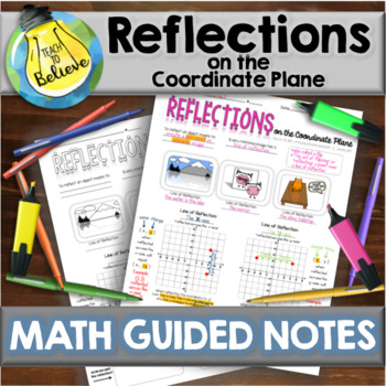 Reflections on the Coordinate Plane - Guided Notes