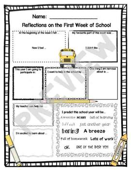Reflections on the first week of school