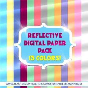 Reflective Digital Paper Pack - 13 Colors