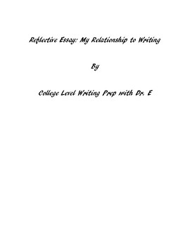 Reflective Essay: My Relationship to Music
