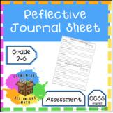 Reflective Journal Sheet