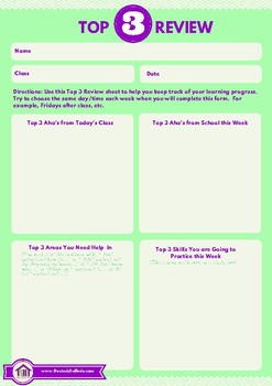 Reflective Journal for Students - Color