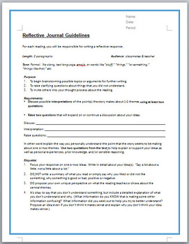 Reflective Journal - with peer review