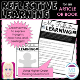 Reflective Learning Questions - SHORT STORY, ARTICLE, NOVEL/ BOOK
