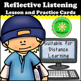Reflective Listening Lesson and Practice Cards Suitable fo