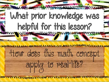 Reflective Math Journal Prompts