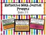 Reflective Math Journal Prompts