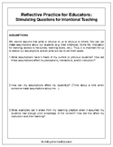 Reflection and Intentional Teaching FREE